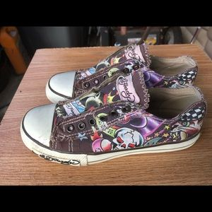 Ed Hardy Slip-on Women Casual Shoes Sneakers SZ. 5